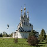 Russian Orthodox Church of the Mother of God Hodegetria in Vyazma royalty free stock image