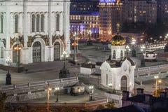 Russian Orthodox Church at night Stock Image