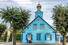 Russian orthodox church. Old believers or Old Ritualists church in Jekabpils, Latvia stock images