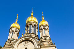 Russian Orthodox Church of Saint Elizabeth in Wiesbaden Royalty Free Stock Photography