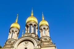Russian Orthodox Church of Saint Elizabeth in Wiesbaden Royalty Free Stock Photography
