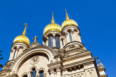 Russian Orthodox Church of Saint Elizabeth in Wiesbaden Royalty Free Stock Photos