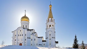 Russian orthodox church of St. Tatiana in Samara, Russia stock footage