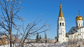 Russian orthodox church of St. Tatiana in Samara, Russia stock video