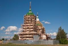 Russian orthodox church under restoration Stock Photo