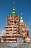 Russian orthodox church under restoration Stock Images