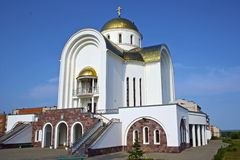 Russian Orthodox church in Votkinsk, Russia Royalty Free Stock Photography