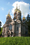 Russian Orthodox Church in Wiesbaden Stock Image