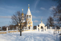 Russian orthodox church in  winter Royalty Free Stock Image