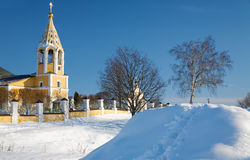 Russian orthodox church in the winter Stock Photo