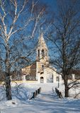 Russian orthodox church in the winter Stock Image