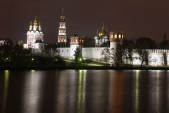 Russian orthodox churches in Novodevichy Conven Royalty Free Stock Photos