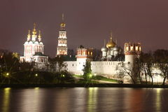 Russian orthodox churches in Novodevichy Convent monaster Stock Photo