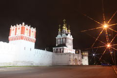 Russian orthodox churches in Novodevichy Convent monastery Royalty Free Stock Images