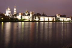 Russian orthodox churches in Novodevichy Convent monastery Stock Photo