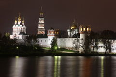 Russian orthodox churches in Novodevichy Convent monastery Stock Photos