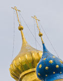 Russian Orthodox domes Stock Photos