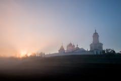 Russian orthodox monastery at sunrise. Stock Photo