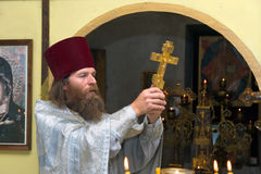 The Russian orthodox priest Royalty Free Stock Images