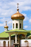 Russian orthodox small church Stock Images