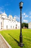 Russian orthodox St. Sophia Cathedral in Veliky Novgorod, Russia. Cathedral was founded in 1050 stock photos