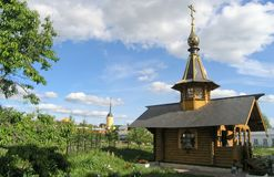 Russian orthodox village. Near Moscow Stock Image