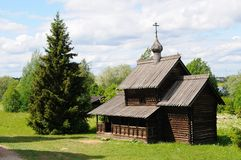 Russian Orthodox Wooden Church Stock Image