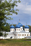 Russian orthodox Yuriev Monastery, Church of Exaltation of the Cross, Great Novgorod, Russia Royalty Free Stock Photos