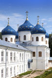 Russian orthodox Yuriev Monastery, Church of Exaltation of the Cross, Great Novgorod, Russia Royalty Free Stock Photography
