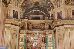 Russian orthodoxy cathedral temple interior Royalty Free Stock Image
