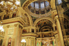 Russian orthodoxy cathedral temple interior Royalty Free Stock Photo