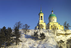 Russian ortodox church. That crunch to the place Kapyctichi Stock Images