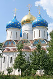 A Russian ortodox church at the Trinity-Sergius Lavra (build in stock image
