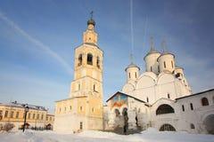 Russian ortodox church winter landscape Stock Image