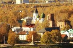 Russian ortodox church winter landscape Stock Photography