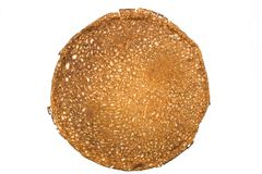 Russian pancake. On the white isolated background Stock Photography