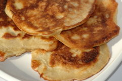 Russian pancake, blini. Russian pancake called blini stuffed with apples royalty free stock images
