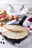 Russian pancake blini Royalty Free Stock Images