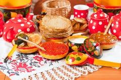 Russian Pancake Royalty Free Stock Images