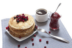 Russian pancakes Royalty Free Stock Photos
