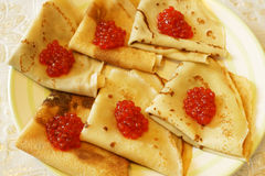 Russian pancakes Stock Photo