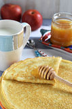 Russian pancakes (Blinis) Royalty Free Stock Photo