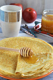 Russian pancakes (Blinis) Royalty Free Stock Images