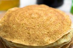 Russian pancakes blini Royalty Free Stock Photos