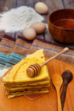 Russian pancakes on Shrove Tuesday Stock Images
