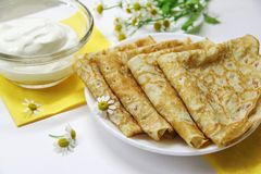 Russian pancakes Royalty Free Stock Photo