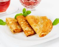 Russian pancakes Royalty Free Stock Image