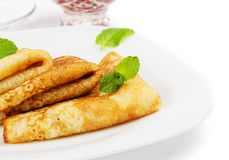 Russian pancakes Royalty Free Stock Photography