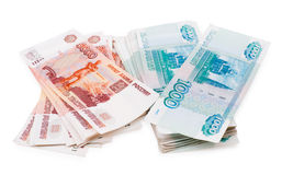 Russian paper money Royalty Free Stock Images