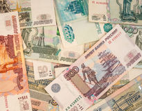 Russian paper money Royalty Free Stock Photography